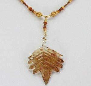 Amber Leaf Necklace