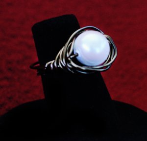 Pearl In A Nest Ring