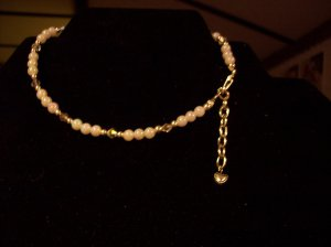 Pearls and Crystal Ankle Bracelet