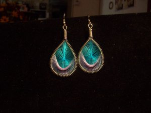 Tribal/Native Style Woven and Silver Dangles