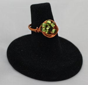 Peridot Galaxy Ring