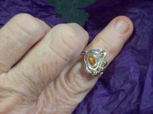 Out Of This World Citrine Galaxy Ring
