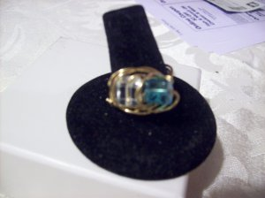 Dual Square Crystal Ring