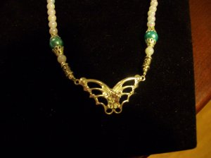 Butterfly & Pearl Necklace