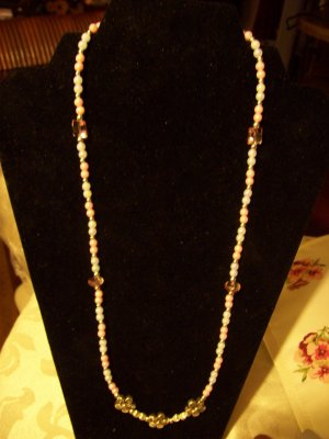 My Pink & White Delight Necklace