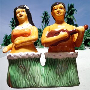 Hula Salt & Pepper Shakers