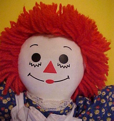 """Raggedy Ann 20"""" Doll 1979 Corsicana Texas Factory"""