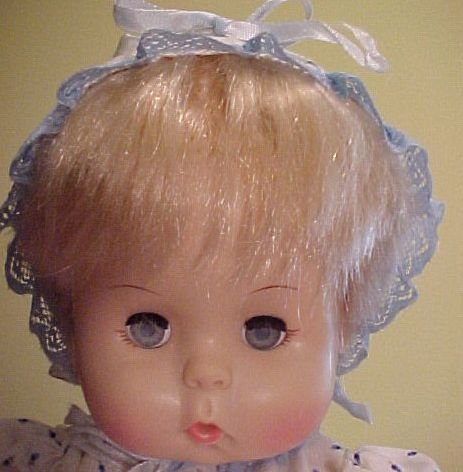 "Effanbee 1971 Dydee Darlin Vintage 18"" Doll All-Vinyl Baby"