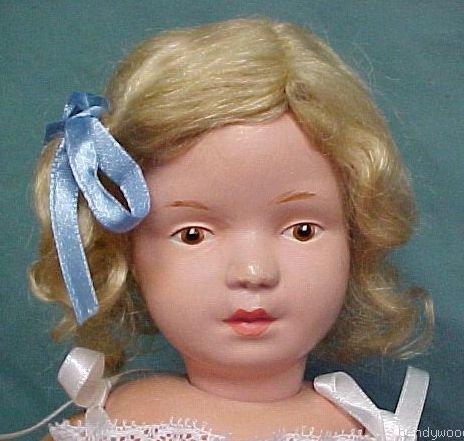 "Gingers Dolls Classic 14"" Schoenhut Style Mohair Doll Wig Dark Blonde"