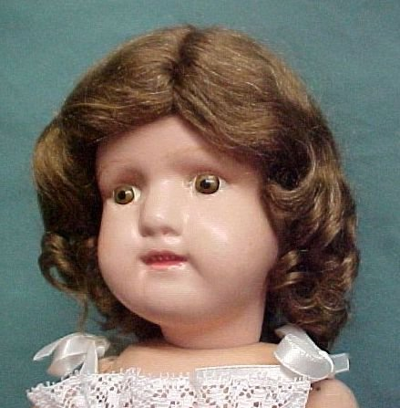 """Gingers Dolls Classic 15"""" Schoenhut Style Mohair Doll Wig Light Brown"""