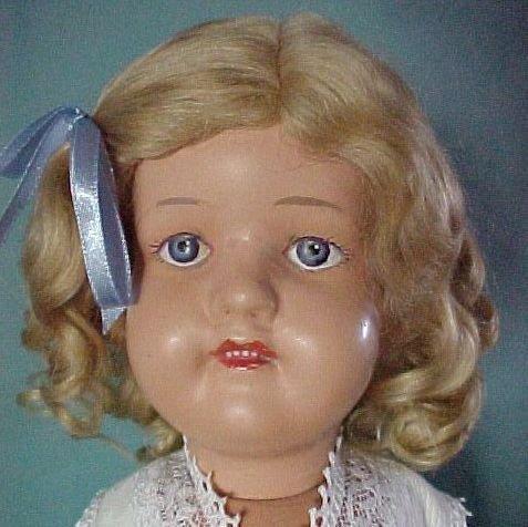 "Gingers Dolls Classic 19"" Schoenhut Style Mohair Doll Wig Dark Blonde"