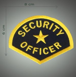 Security officer  embroidered patch