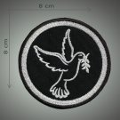 Peace dove embroidered patch