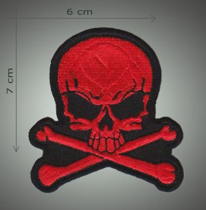skull embroidered patch