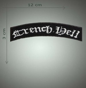 Trench hell embroidered patch