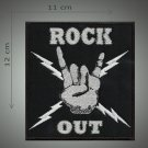 Rock out embroidered  patch