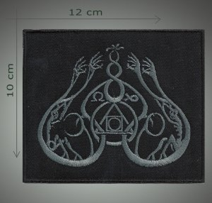 Gris embroidered  patch