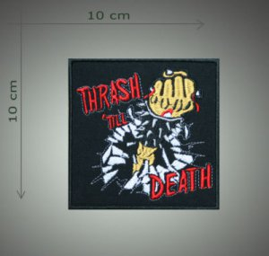 Thrash metal embroidered  patch