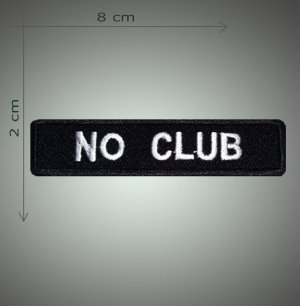 No club embroidered  patch