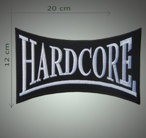 Hardcore embroidered  patch