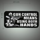 Gun control embroidered patch