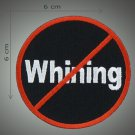 Whining embroidered patch