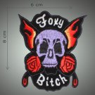 Foxy embroidered patch