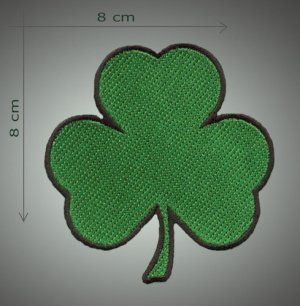 Leaf clover embroidered patch