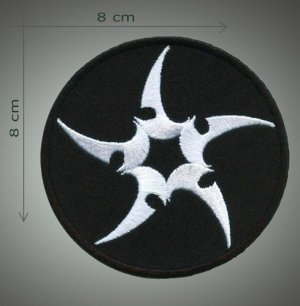 Ninja star embroidered patch