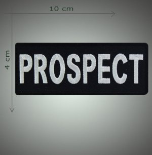 Prospect embroidered patch