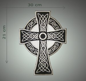 Cross back patch embroidered patch