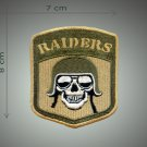 Raiders embroidered patch