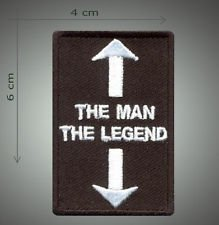 The man the legend embroidered patch