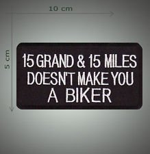 15 grand and 15 miles embroidered patch