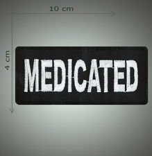 Medicated embroidered patch