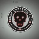 Miss construction embroidered patch