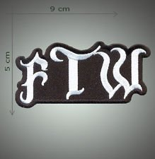 FTW embroidered patch