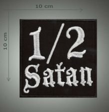 1/2 Satan embroidered patch