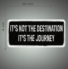 Its the journey embroidered patch