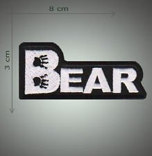 Bear embroidered patch