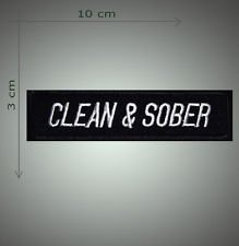 Clean & Sober embroidered patch