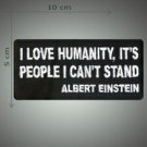 Albert Einstein about humanity embroidered patch