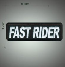 Fast rider embroidered patch