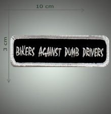Bikers against dump drivers embroidered patch