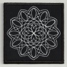 Sacred geometry  embroidered patch