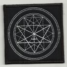 Sacred geometry 4 embroidered patch
