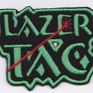 Lazer tag embroidered patch