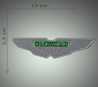 Aston Martin - embroidered patch, 1,2 X 5,2 (INCHES)