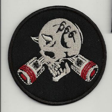 Satan 666 - embroidered patch, diameter 3,2 (INCHES)