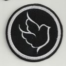 Peace Dove 2 - embroidered patch, diameter 3,2 (INCHES)
